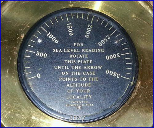 Antique 1914 Short & Mason Compensated Barometer NO RESERVE