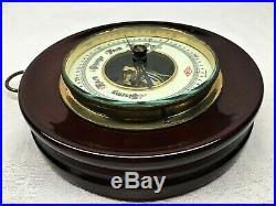 Antique 1920s German Aneroid Barometer Porcelain Face Exposed Movement Germany