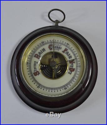 Antique 1920s German Wall Barometer #1641 Wooden Frame Enamel Dial 5 /fr