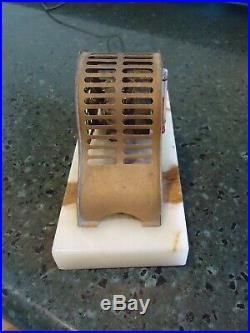 Antique 1925 Art Deco absolute Portable thermoswitch Thermometer marble Base