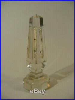 Antique 19thC Grand Tour Cut Polished Glass Obelisk RF Thermometer 4 5/8 Tall