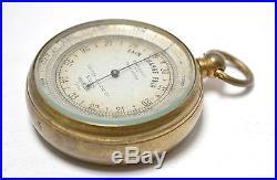 Antique 19th C Andrew J Lloyd Tychos compensated pocket barometer altimeter