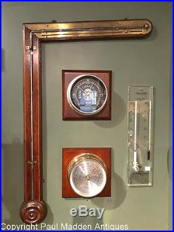 Antique 19th C. Angle Tube Barometer by L. Laffrancho, Ludlow
