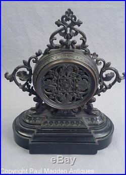 Antique 19th C. French Aneroid Barometer on Marble Base