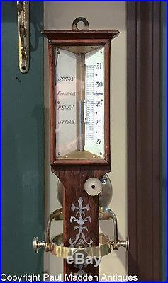 Antique 19th C. German Ship's Barometer