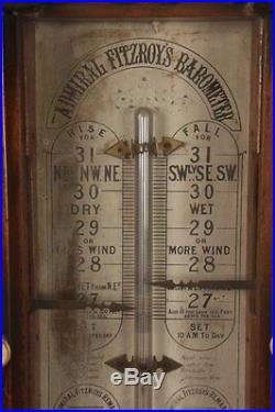 Antique 19th Century Admiral Fitzroys Barometer Excellent Condition 46 Long