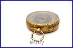 Antique 19th Century La Filotecnica Milano Compensato Cased Pocket Barometer