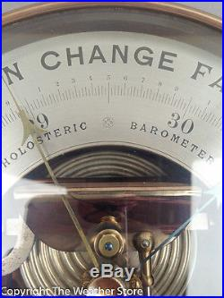 Antique 8 Holosteric Barometer by Naudet with Dual Thermometers