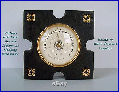 Antique ART Deco FRENCH Barometer TEMPETE G. Pluie P-VENT B. Temps TRES Sec