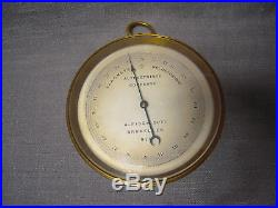 Antique A. FISCH Holosteric Barometer With Leather Case