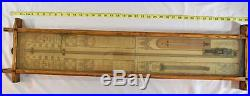 Antique Admiral Fitzroy Barometer Thermometer in Oak Case c. 1880