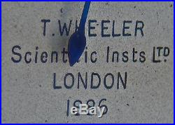 Antique Altitude ALTIMETER 1888 British BROAD ARROW Marking by T. Wheeler London