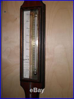 Antique-American-Stick Barometer-E. C. Spooner-Storm King-Boston-Ca. 1875-To Restor