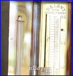 Antique American Stick Barometer by D. E. Lent