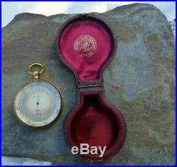 Antique Andrew J Lloyd Co Boston Tycos Compensated Pocket Watch Style Altimeter