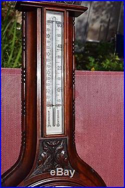 Antique Aneroid Barometer Theo Mundorff Optician New York (1890)