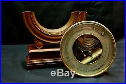 Antique Aneroid Barometer / Thermometer Spitra Prag w. O. Stand, c. 1880