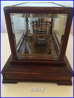 Antique BAROGRAPH, Late Victorian England, Jeweller & Optician, Beveled Glass