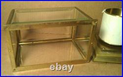 Antique BAROGRAPH Paul Schaer BRUXELLES PARIS #69528 BEVELED GLASS TOP 7x5x5