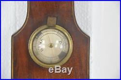 Antique Banjo Barometer, Decorative Barometer, Georgian Mahogany, 1820, B1040