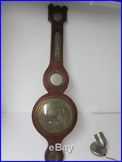 Antique Banjo Style Weather Station Barometer For Parts or Restoration