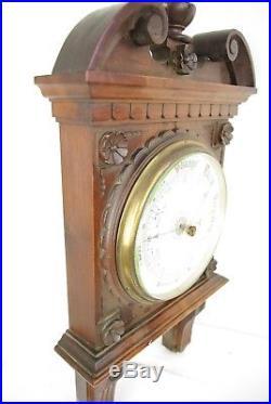 Antique Barometer, Aneroid Barometer, Decorative Barometer, Scotland 1890, B1267