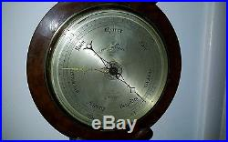Antique Barometer English circa 1800 English Walnut J Somalvico (maker)