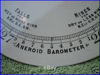 Antique Barometer Porcelain Dial and Hand
