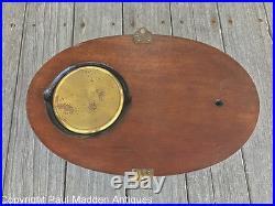 Antique Barometer Thermometer Clock