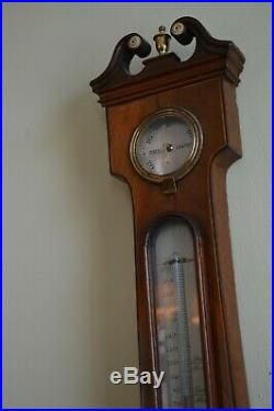 Antique Barometer Thermometer Humidity Instrument Cattelli, England 1840