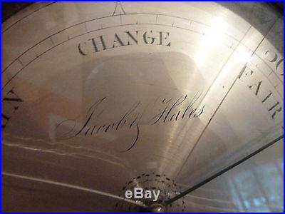 Antique Barometer W Johnson London English Banjo 19th Century Jacob Hales