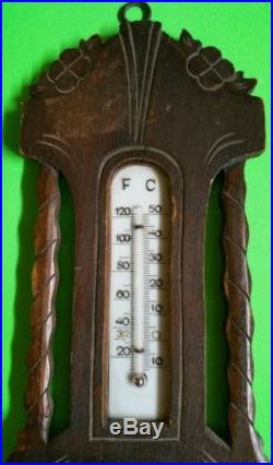 Antique Barometer with Temperature
