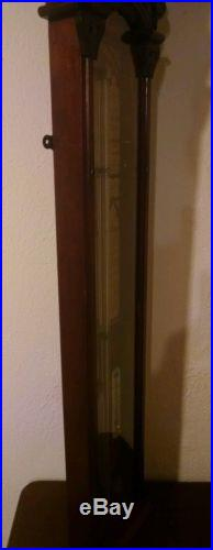 Antique Beautifully Carved Admiral Fitzroy Barometer in very good condition