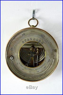 Antique Brass Barometer Briggs Brothers, Philadelphia