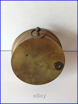 Antique Brass NPHB Paul Naudet HOLOSTERIC BAROMETER