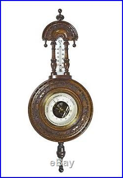 Antique Carved Barometer / Thermometer, Dutch / German