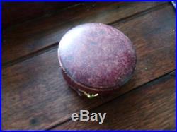 Antique Cased J J Hicks London BAROMETER ALTIMETER BRASS Original Leather Case