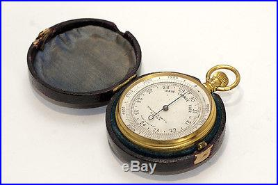 Antique Cased Pocket Barometer