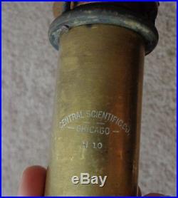 Antique Central Scientific Co Chicago Brass Stick Barometer