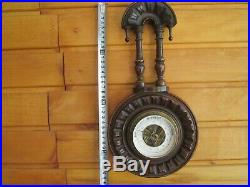 Antique Collectible wooden Barometer Imperial Russian Empire Royal Russia Tsar