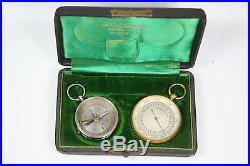 Antique Compass & Barometer Gebr Mittelstrass Magdeburg In Original Box Estate