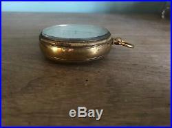 Antique Compensated Pocket Barometer JJ Hicks London With Original Leather Case J