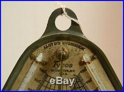 Antique Complete Tycos Lloyd's Hygrodeik Rochester, NY Base is Water Holder