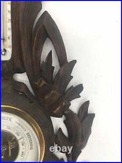 Antique Dutch Black Forest weather barometer, VERANDERLYK. SHIPS FREE
