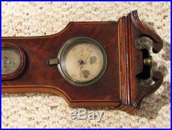 Antique ENGLISH BANJO BAROMETER FOR RESTORATION