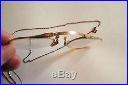 Antique Early 1900s Pince-Nez Eyeglasses TP 1/10 12K SPG