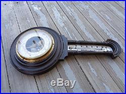 Antique Ebonized B Pestel Dresden Germany Holosteric Barometer Thermometer