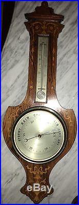 Antique Ednie & Kininmonth Forfar Scotland Weather Station Gamage Banjo Inlayed