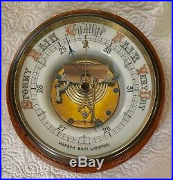 Antique English Aneroid Barometer Morath Bros. Liverpool 19th Century
