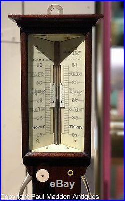 Antique English Marine Barometer Sympiesometer Wolf, Liverpool